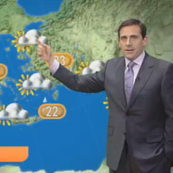 Video of Steve Carell Doing the Weather Report For the UK 2010-04-02 10:28:52