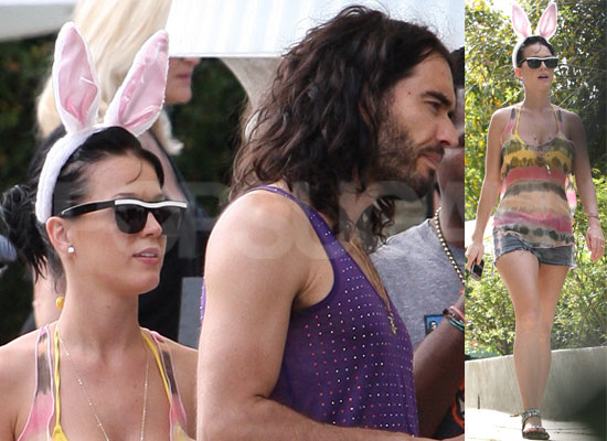 Photos From Russell Brand and Katy Perry's Easter Party in Los Angeles, Katy Perry Wearing Easter Bunny Ears