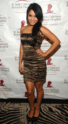 Vanessa Hudgens in Ruched Alberto Makali Dress