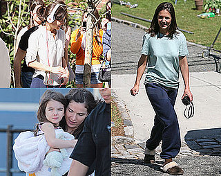 Photos of Katie Holmes in Sweats With Suri Cruise on the Set of Son of No One