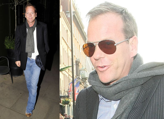 Photos of Kiefer Sutherland in London Watch Video of Jonathan Ross Interview