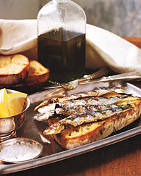 Fresh Sardines on Grilled Bread Recipe