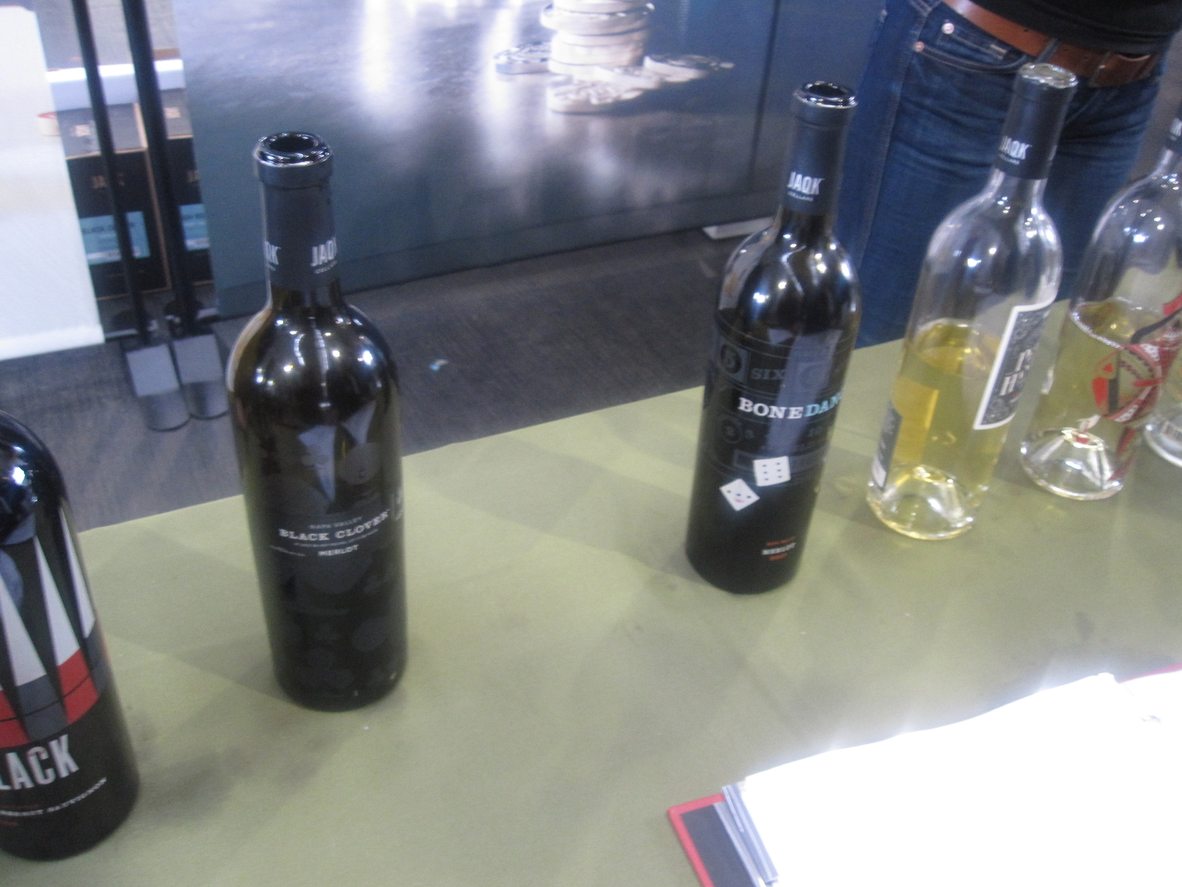 The first wines I spotted on arrival were JAQK's great offerings.