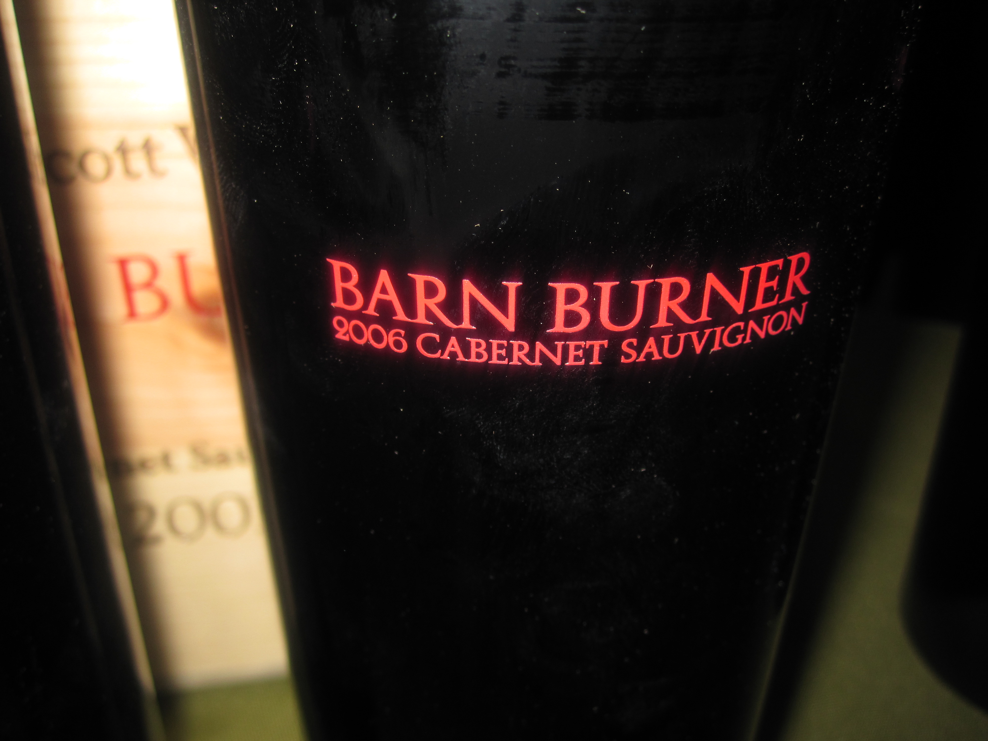 Tom Scott Vineyard's Barn Burner was one of the best Cabernet Sauvignons of my life.