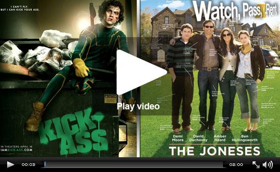 Video Reviews of The Joneses and Kick-Ass