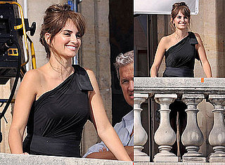Pictures of Penelope Cruz Shooting an Ad For Lancome With Mario Testino in Paris on Her 36th Birthday
