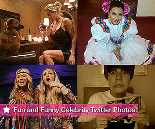 Twitter Pictures of Jenny McCarthy, Eva Longoria, Justin Bieber, Paris Hilton and Ashton Kutcher