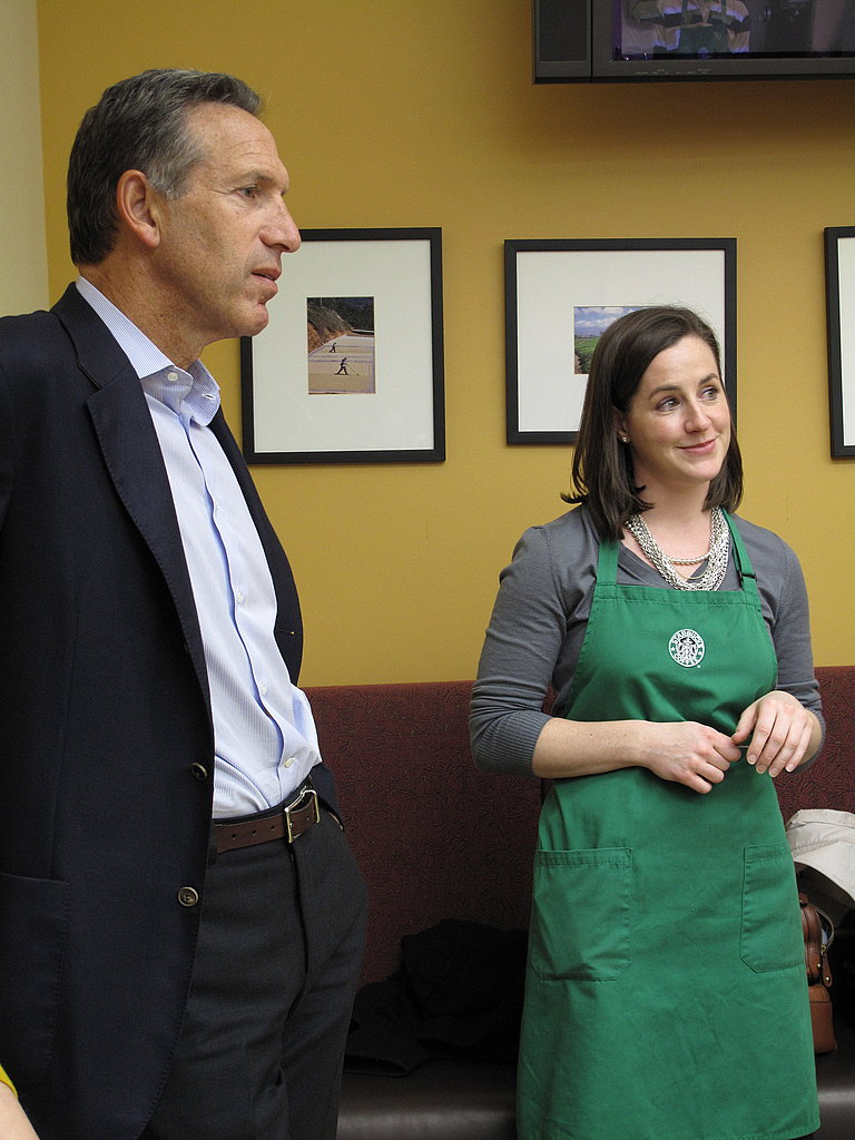 """At another of our cupping sessions, CEO Howard Schultz popped in to say hello. """"Not unlike wine, the more you spend time learning about coffee, the more you realize you don't know,"""" he remarked."""