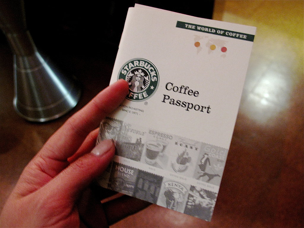 """I was given a """"coffee passport"""" to help navigate me through the tasting."""