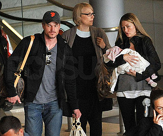 Slide Picture of Eric Dane and Rebecca Gayheart With Billie in Paris