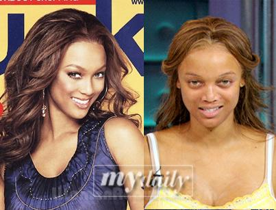 Tyra Banks without makeup!