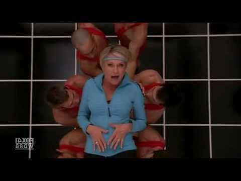 "Sue Sylvester and Olivia Newton-John team up to remake ""Physical"" on Glee"