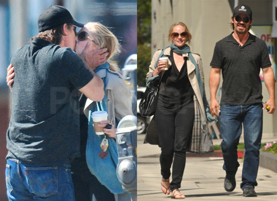 Pictures of Josh Brolin Kissing Marley Shelton