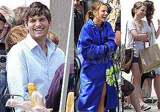 Pictures of Natalie Portman and Ashton Kutcher on the Set of Friends With Benefits