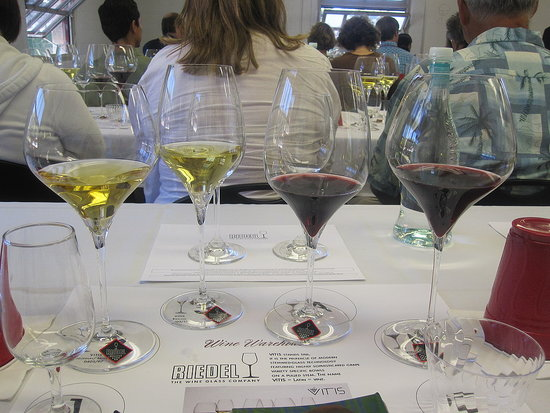 Inside a Riedel Comparative Wine Glass Tasting