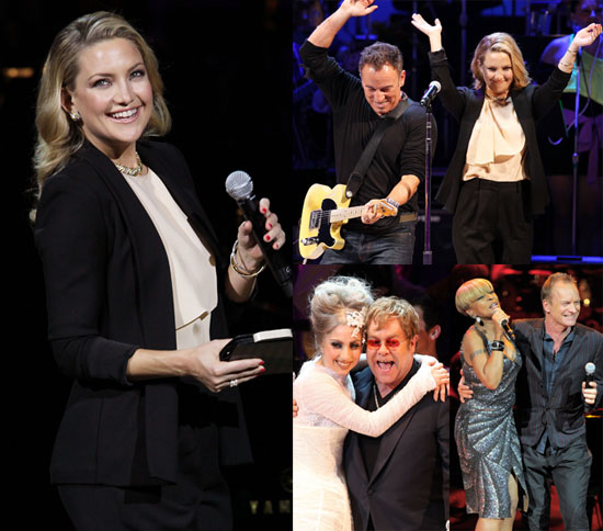 Pictures of Kate Hudson, Lady Gaga, Elton John at Almay Rain Forest Charity Concert