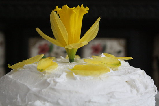 Meringue frosting Easter cake.