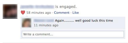 Passive-Aggressive Facebook Comment
