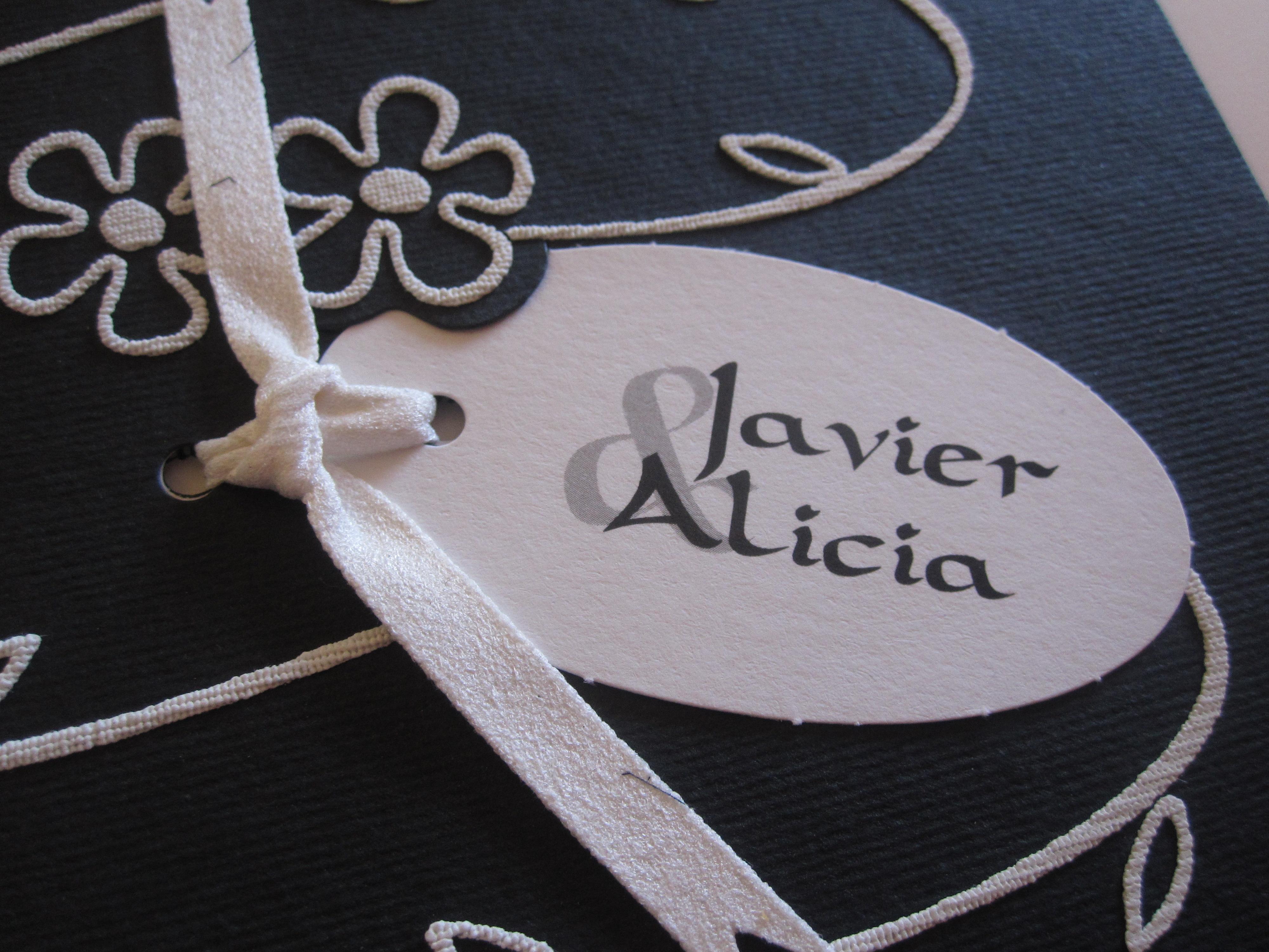 The bride, Alicia, designed the invite.