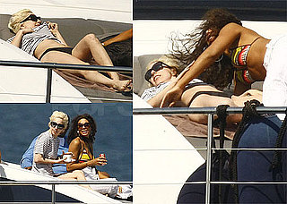 Pictures of Lady Gaga in a Bikini Rolling Around With Another Woman