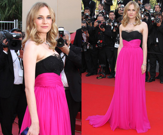 Photos of Diane Kruger at Palme d'Or Closing Ceremony at Cannes Film Festival in Pink Dress