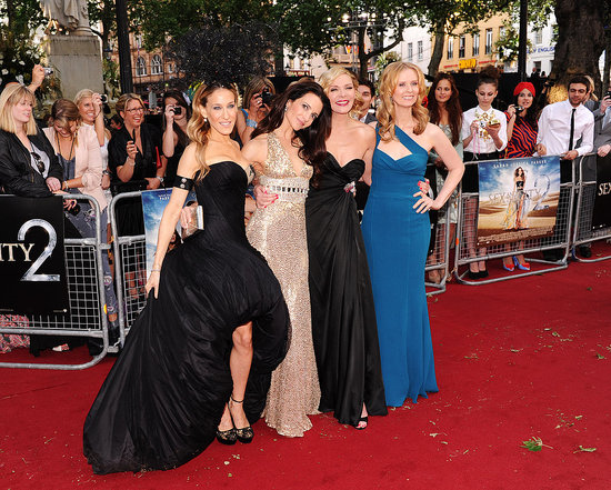 Celebrity pictures of the Sex and The City 2 London premiere