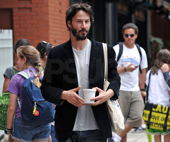 Slide Picture of Keanu Reeves at Bar Pitti