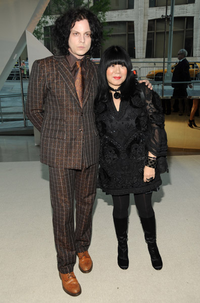 Jack and designer Anna Sui at the 2009 CFDA Awards.