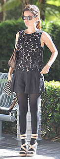 Rachel Bilson in 3.1 Phillip Lim Romper and Tights