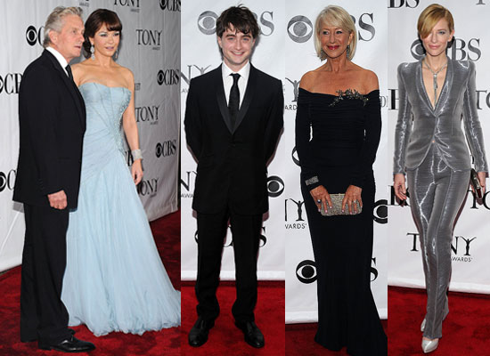 Pictures of Daniel Radcliffe, Catherine Zeta-Jones, Katie Holmes, Scarlett Johansson, Beyonce, JayZ, Helen Mirren at Tony Awards