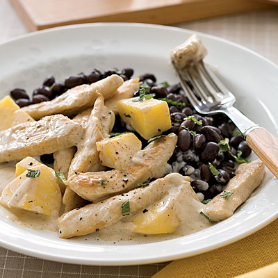 Coconut Mango Chicken With Black Beans Recipe