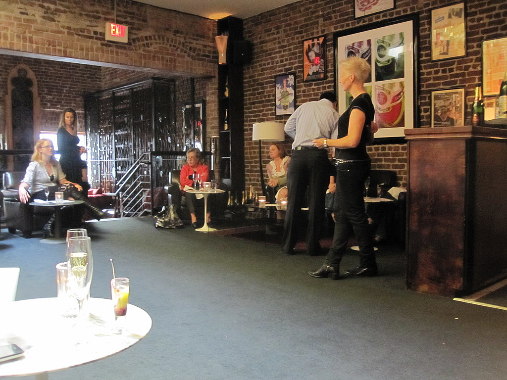 Chef Falkner addresses the small group at the lounge.