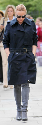 Stella McCartney in Stella McCartney Boots and Navy Trench Coat