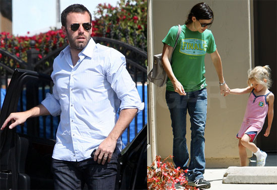 Pictures of Ben Affleck, Violet Affleck, and Jennifer Garner in LA