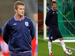Pictures of David Beckham Practicing at a Training Session With England 2010-06-17 15:30:00