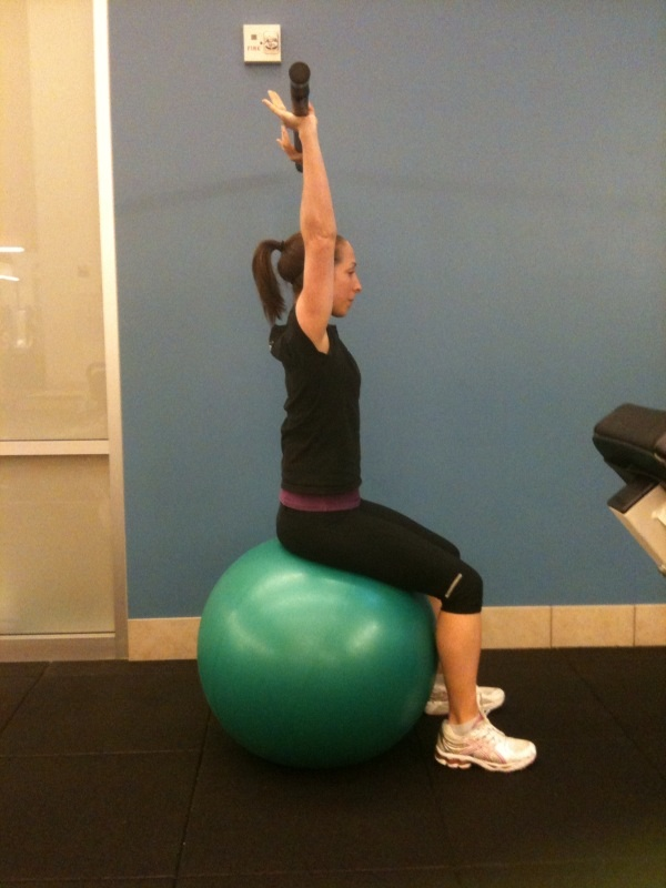 Seated Overhead Press With Bar