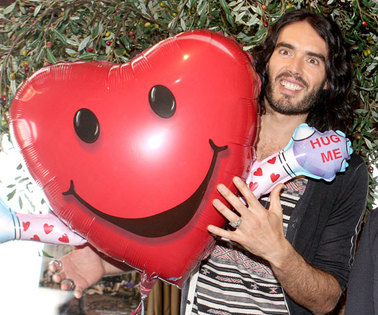 Slide Picture of Russell Brand With a Big Heart