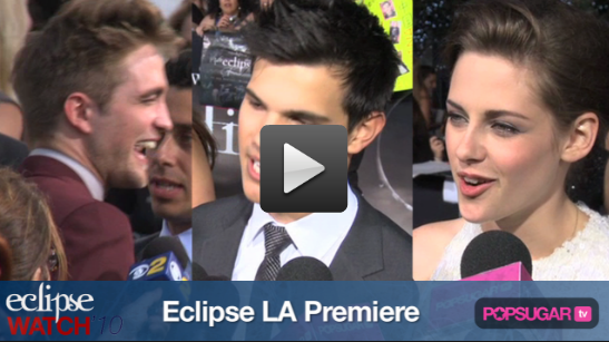 Exclusive Eclipse Red Carpet Video: Rob and Kristen Couple Up, Kellan Shows His Calvins, and Why Vamps Are So Hot! 2010-06-25 14:30:00