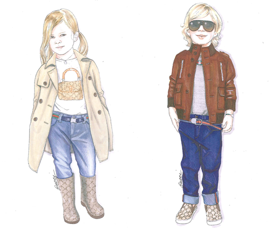Pictures of Gucci's Children's Clothing