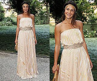 Margherita Missoni Wearing Peachy Striped Missoni Maxi and Hippie Headband 2010-06-30 12:00:22