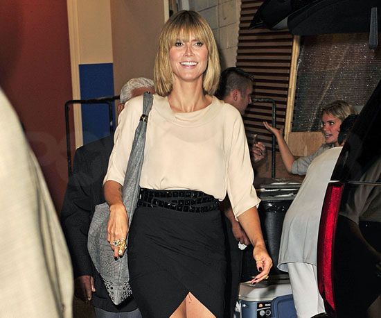 Slide Picture of Heidi Klum Leaving Regis and Kelly