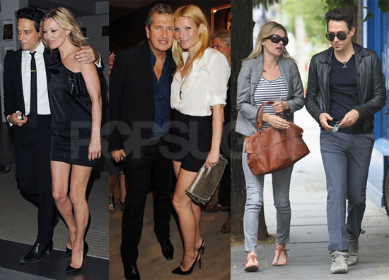 "Pictures of Kate Moss, Mario Testino, Gwyneth Paltrow, and Jamie Hince at the Opening of ""Kate Who?"" in London"