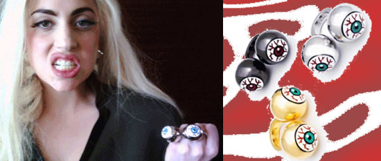 Lady Gaga Ambush Bloodshot Eyeball Ring
