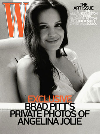 In October 2008, Angelina Jolie was pictured breastfeeding one of the twins on a W cover, photographed by Brad.