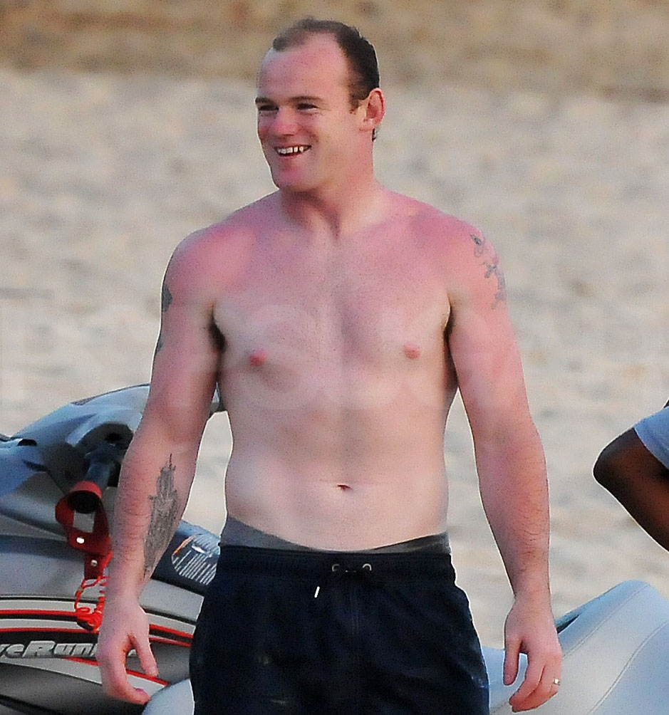 Wayne Rooney Holiday Shirtless Wayne Rooney in Barbados on Holiday POPSUGAR Celebrity UK