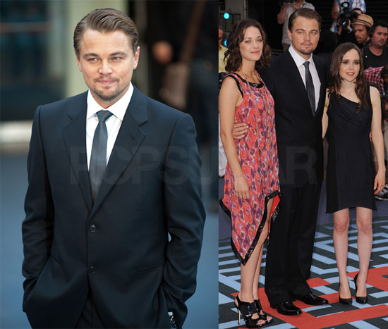Leonardo DiCaprio on Inception Red Carpet With Ellen Page, Marion Cotillard, and More