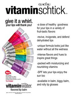 New Lipsmackers Vitamin Water Schticks