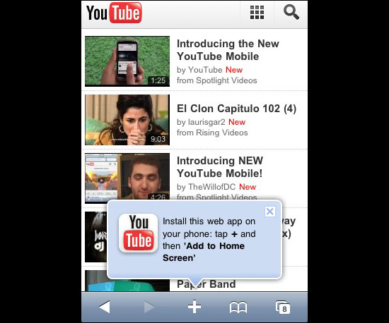 YouTube's Mobile Site Gets a New Look