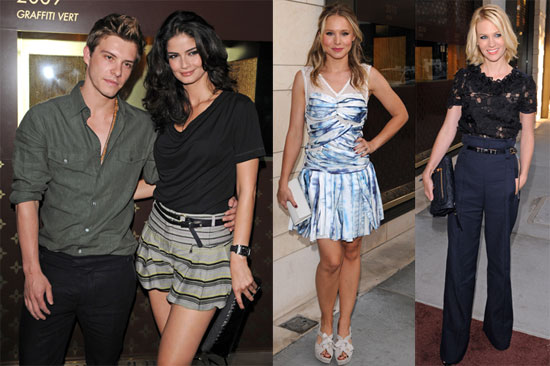 Pictures of Christina Ricci, Kristen Bell, January Jones, Colin Egglesfield, Xavier Samuel, and Shermine Shahrivar at a LV Party