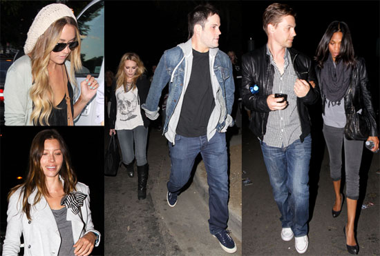 Pictures of Lauren Conrad, Jessica Biel, and Hilary Duff at the Kings of Leon Concert in LA